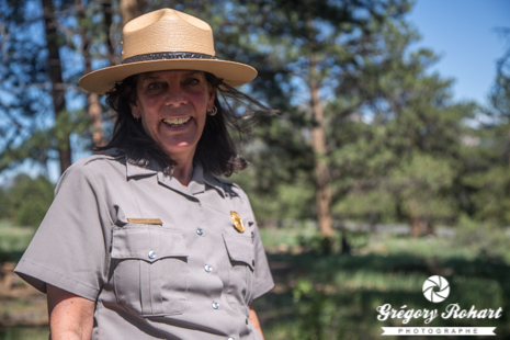 Marguerite Gilies, ranger au backcountry office du Rocky Mountain National Park