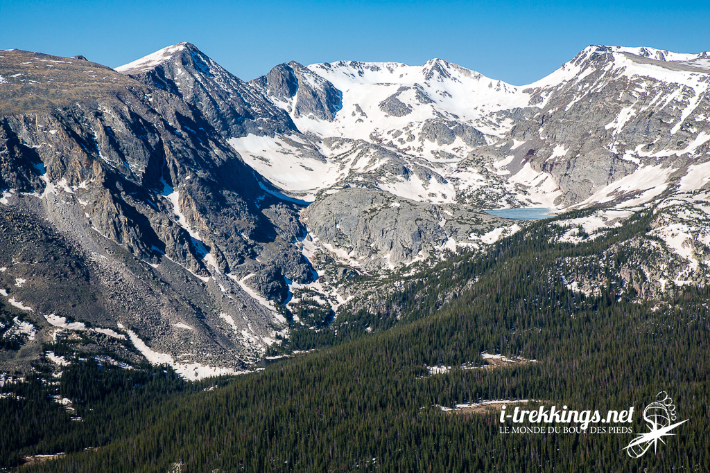 Le Continental Divide trail dans le parc national Rocky Mountain