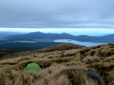 Bivouac sur le Tongariro Northern Circuit
