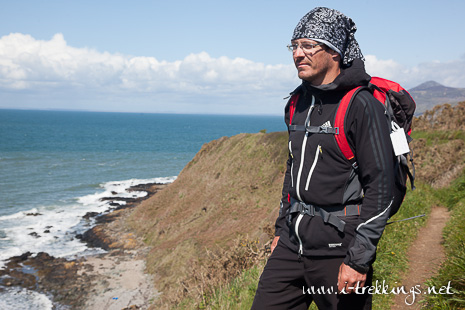 Test softshell Adidas Terrex Windstopper® sur le Wales Coast Parth au Pays de Galles