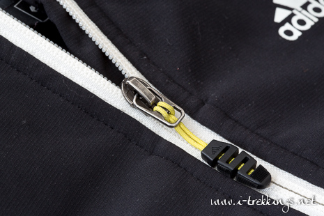 Zoom sur le zip frontal