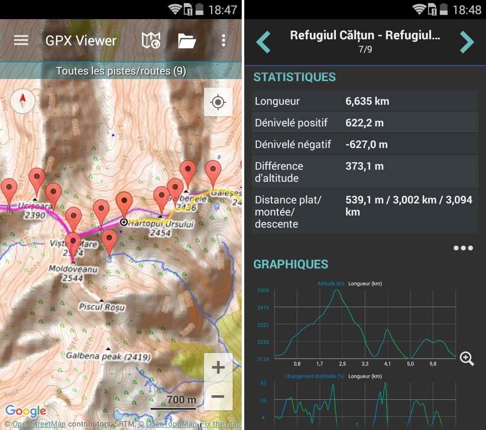 Application GPS GPX Viewer