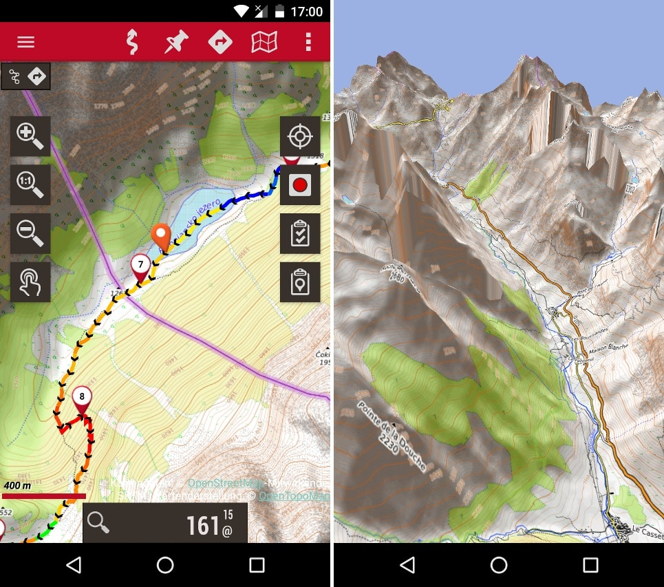 Application GPS OruxMaps