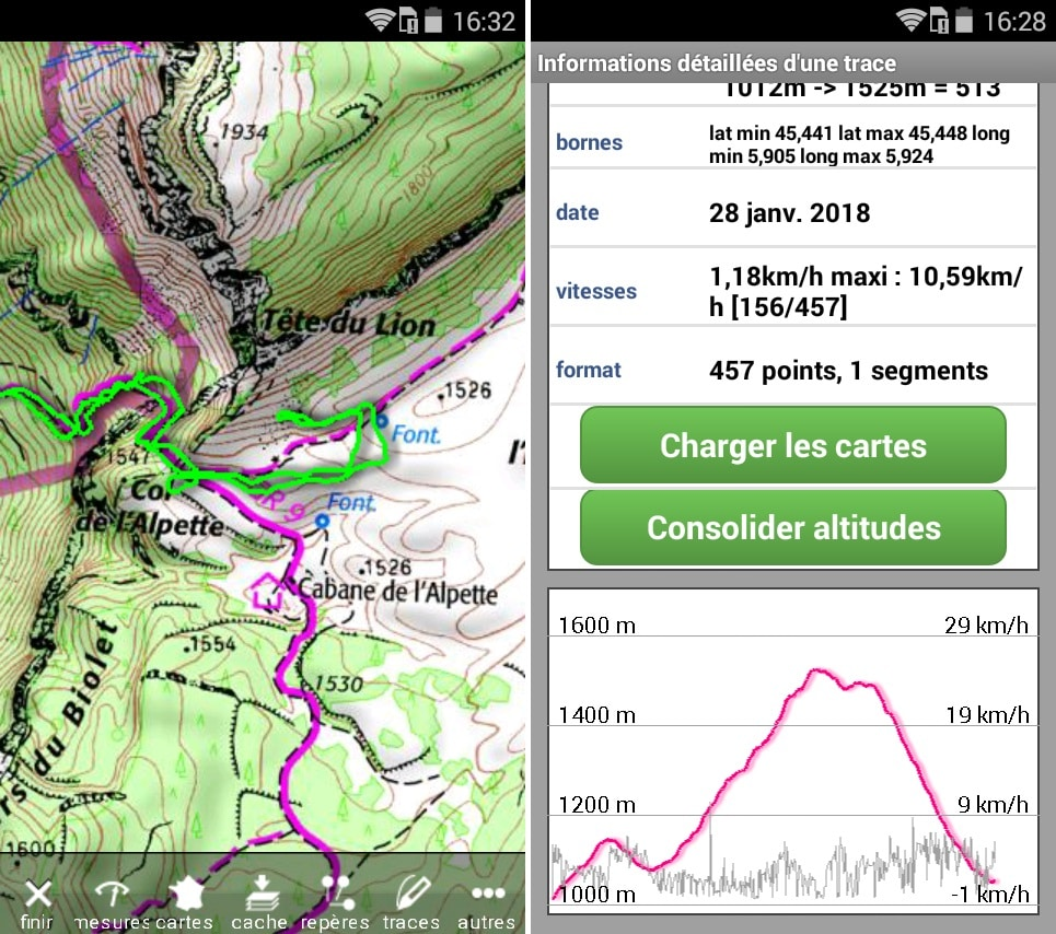 Application GPS iPhiGéNie