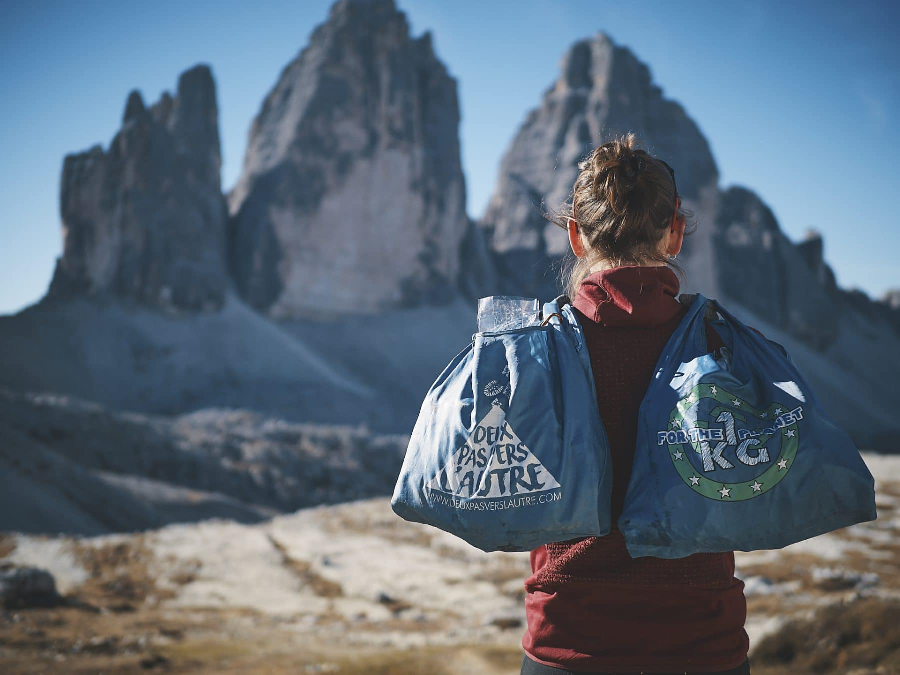 1kg for the planet, Dolomites, Tre Cime di Lavaredo, Italie, traversée des alpes