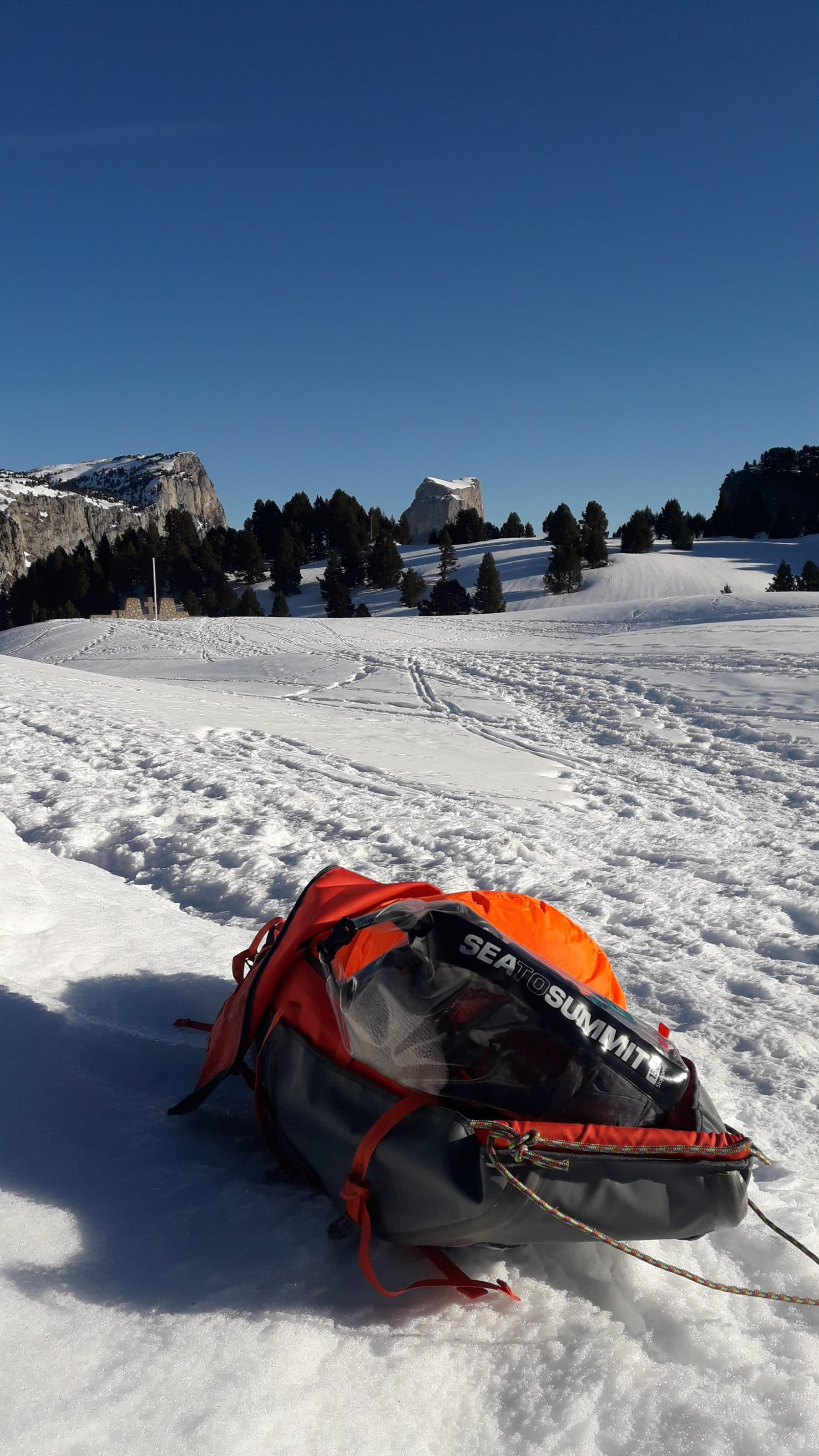 Test du Sea To Summit Clear Stopper dans la neige