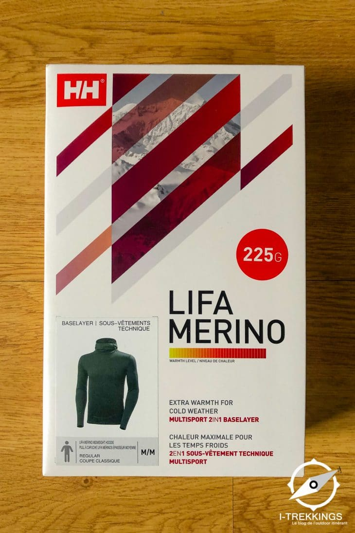 emballage sous-vêtement Helly Hansen Lifa Merino Midweight Hoodie